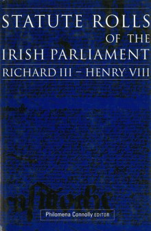 Statute rolls of the Irish parliament