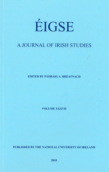Éigse: a journal of Irish Studies (37)