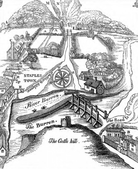 four courts press irish demesne landscapes 1660 1740 Ireland Castles staplestown house by thomas dineley 1862