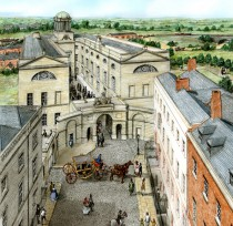Top of Henrietta Street, from a drawing by artist Stephen Conlin
