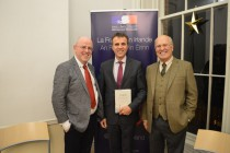 (from left to right) Kevin Whelan, Ambassador Stéphane Crouzet and Pierre Joannon at the Dublin launch, O'Connell House.