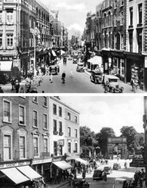 Grafton Street facing north (top) and south (bottom)