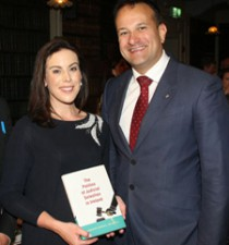 Author Jennifer Carroll MacNeill with Minister for Social Protection Leo Varadkar