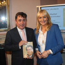 John Hume Jr with Miriam O'Callaghan, who launched the book in Dublin