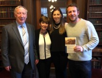 Author Pat McCarthy & family at the book launch in the RIA, Dublin